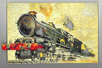 Speed to the West Train wooden jigsaw puzzle