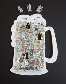 The Brewmeisters mug shape wooden jigsaw puzzle