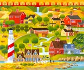 Lighthouse Wash Day wooden jigsaw puzzle