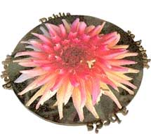 Dahlia so bright wooden jigsaw puzzle