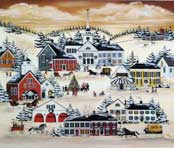 Country Christmas wooden jigsaw puzzle