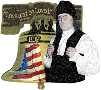 Ben Franklin custom wooden jigsaw puzzle