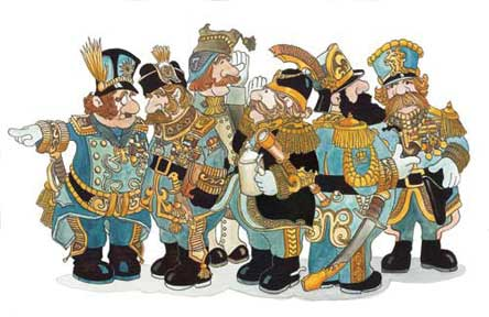 The Generals wooden jigsaw puzzle