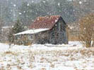 Barn in Snowstorm wooden jigsaw puzzle