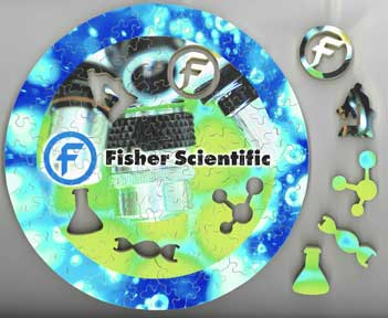wooden jigsaw puzzle Fisher Scientific