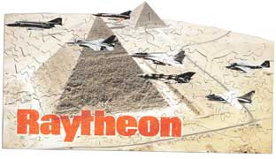 wooden jigsaw Raytheon