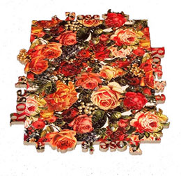Rose is a Rose wooden jigsaw puzzle