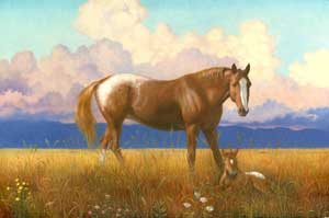 Appaloosa Horses on the Plain wooden jigsaw puzzle