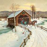 Covered Bridge wooden jigsaw puzzle