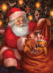 Santa's Bag of Toys wooden jigsaw puzzle
