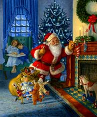Santa's Magical Toys wooden jigsaw puzzle