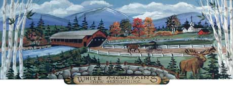 North Country White Mountains NH wooden jigsaw puzzle