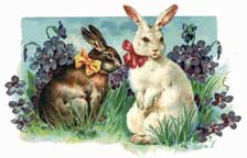 bunnies in bows wooden jigsaw puzzle