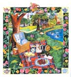 Hyde Park wooden jigsaw puzzle