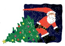 santa's gift wooden jigsaw puzzle