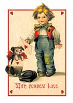 With Fondest Love Valentine wooden jigsaw puzzle