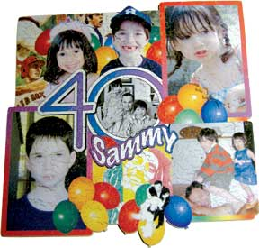 Birthday 40th puzzle collage